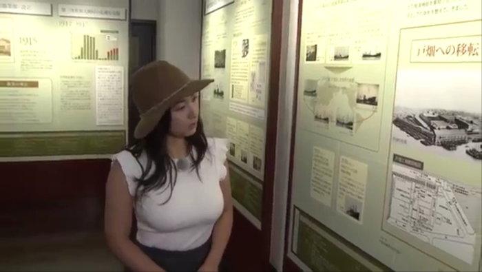 爆乳すぎて炎上した紗綾の北九州PR動画3