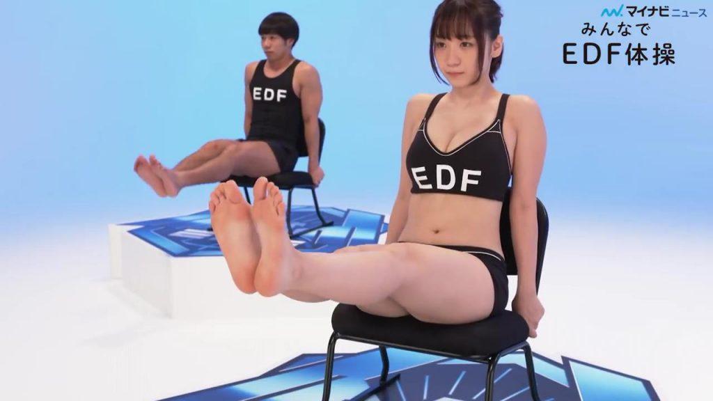 伊織もえのEDF体操キャプチャ13
